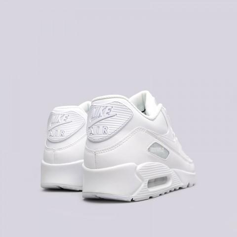 мужские белые  кроссовки nike air max 90 leather 302519-113 - цена, описание, фото 3