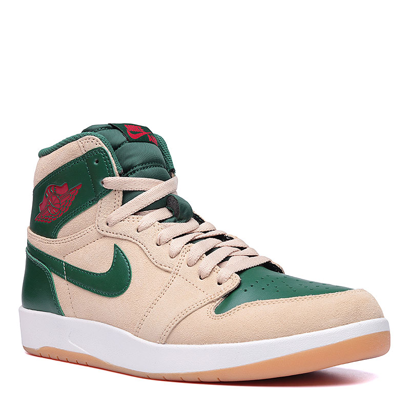 Кроссовки Air Jordan 1 High The ReturnКроссовки lifestyle<br>Кожа, текстиль, резина<br><br>Цвет: Песочный, зелёный, белый<br>Размеры US: 7<br>Пол: Мужской