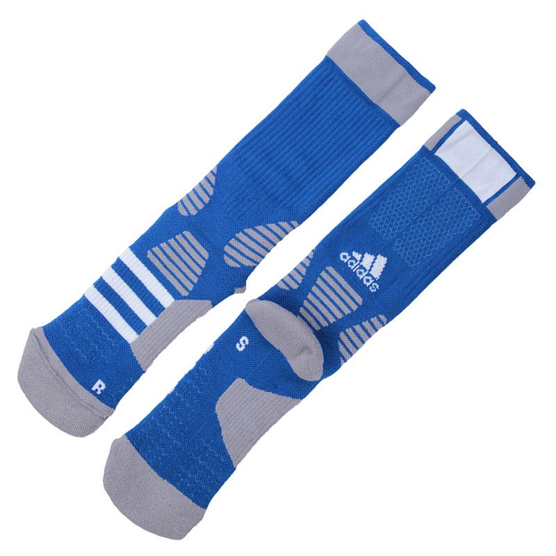 Носки adidas Basket ID FC 1PНоски<br>Хлопок, нейлон, акрил, полиэстер, эластан, шерсть, полипропилен<br><br>Цвет: Синий, серый, белый<br>Размеры UK: 34-36;37-39;40-42;43-45<br>Пол: Мужской