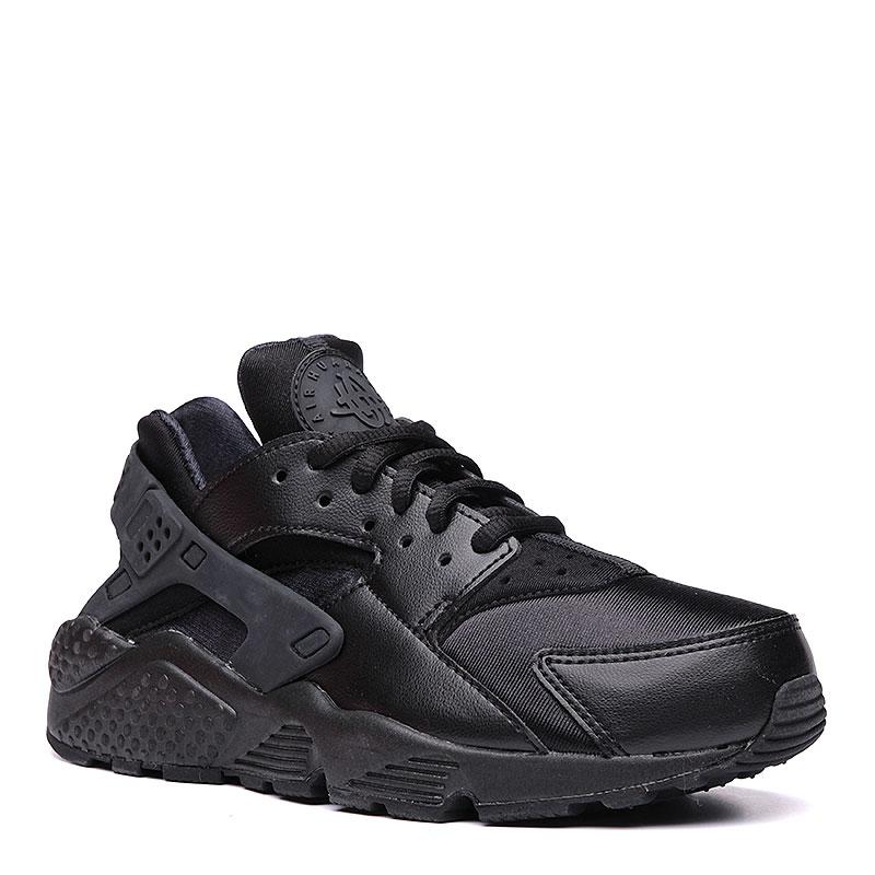 женские черные  кроссовки nike wmns air huarache run 634835-012 - цена, описание, фото 1