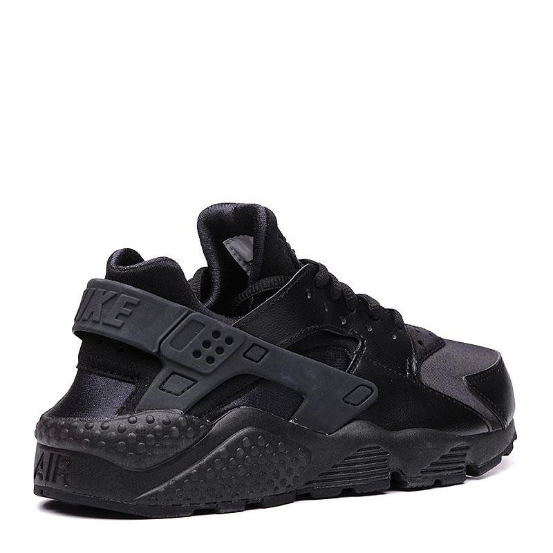 женские черные  кроссовки nike wmns air huarache run 634835-012 - цена, описание, фото 2