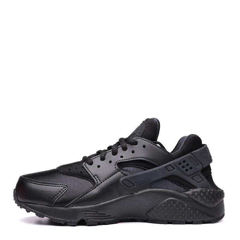 женские черные  кроссовки nike wmns air huarache run 634835-012 - цена, описание, фото 3