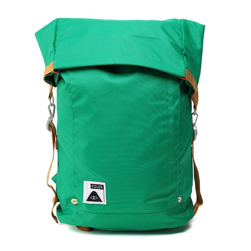 Рюкзак Poler ROLLTOPСумки, рюкзаки<br>Снаружи фирменная ткань Campdura;<br>Подклад-  нейлон<br><br>Цвет: Зеленый<br>Размеры : OS
