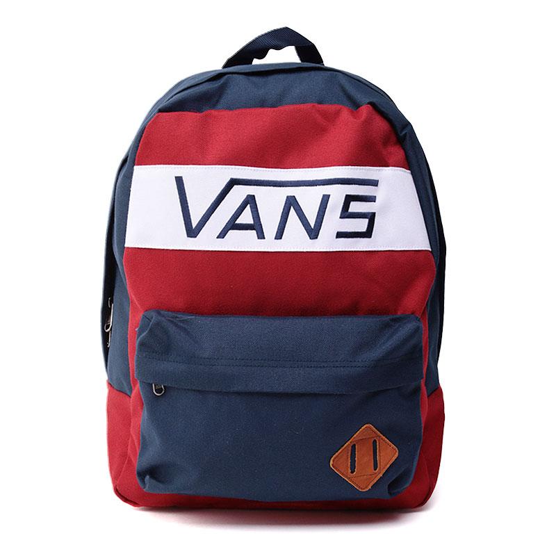 dd2b3a2589da красный,синий,белый рюкзак vans old skool plus V2TMJ54 - цена, описание,