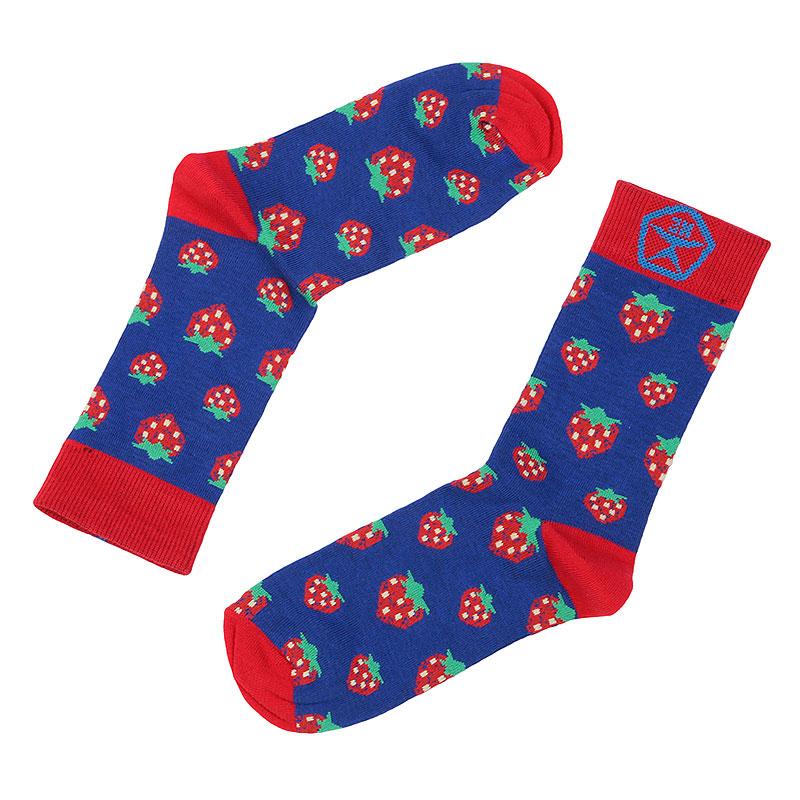 Носки Запорожец heritage КлубникаНоски<br>Хлопок, эластан<br><br>Цвет: Синий, красный<br>Размеры : OS<br>Пол: Женский