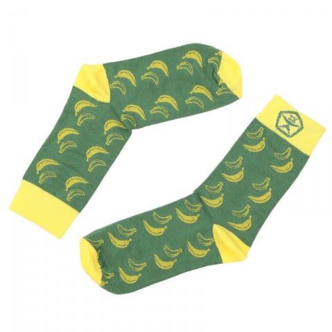 мужские зелёные, жёлтые  носки запорожец heritage банан Банан-зел - цена, описание, фото 1