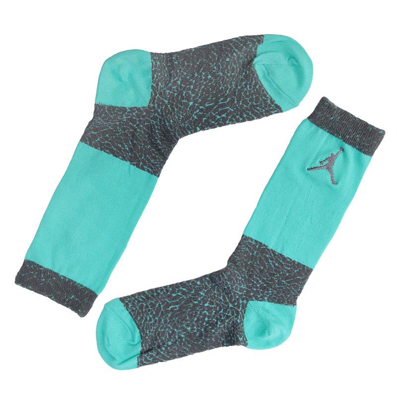 Носки Jordan ElephantНоски<br>Хлопок, нейлон, эластан<br><br>Цвет: Голубой, серый<br>Размеры US: M;L;XL<br>Пол: Мужской