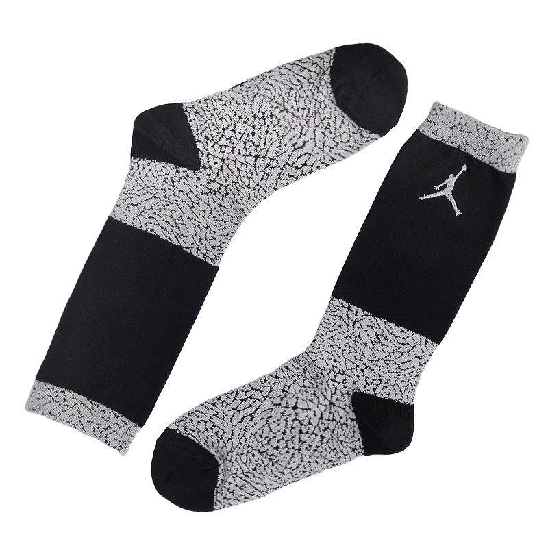 Носки Jordan ElephantНоски<br>Хлопок, нейлон, эластан<br><br>Цвет: Серый, черный<br>Размеры US: M;L;XL<br>Пол: Мужской