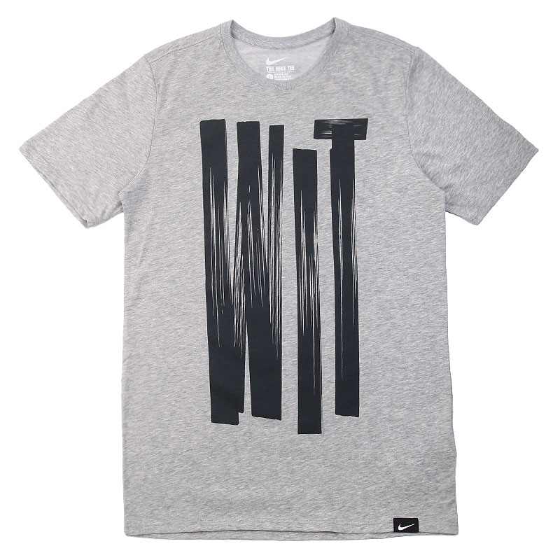 Футболка Nike LeBron Wit Ness TeeФутболки<br>Хлопок, полиэстер<br><br>Цвет: Серый, черный<br>Размеры US: S<br>Пол: Мужской
