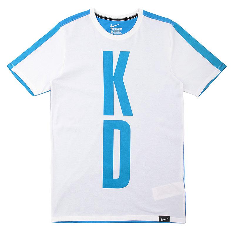 Футболка Nike KD 35 Split TeeФутболки<br>Хлопок, полиэстер<br><br>Цвет: Синий, белый<br>Размеры US: S;M;L;XL;2XL