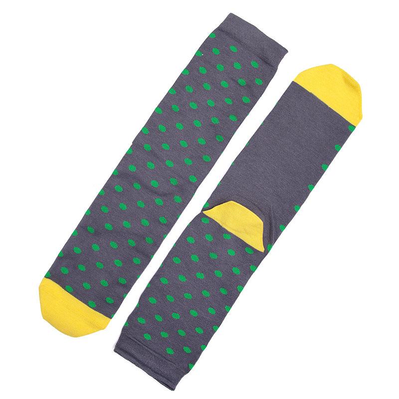 Носки SocksnRollНоски<br>87% хлопок,10% полиамид,3% эластан<br><br>Цвет: Серый,желтый<br>Размеры : 41-45
