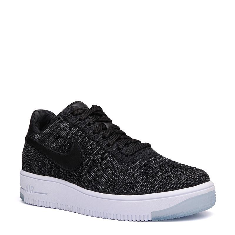Кроссовки Nike Sportswear WMNS Air Force 1 Flyknit LowКроссовки lifestyle<br>кожа,текстиль,резина<br><br>Цвет: Черный<br>Размеры US: 6.5<br>Пол: Женский