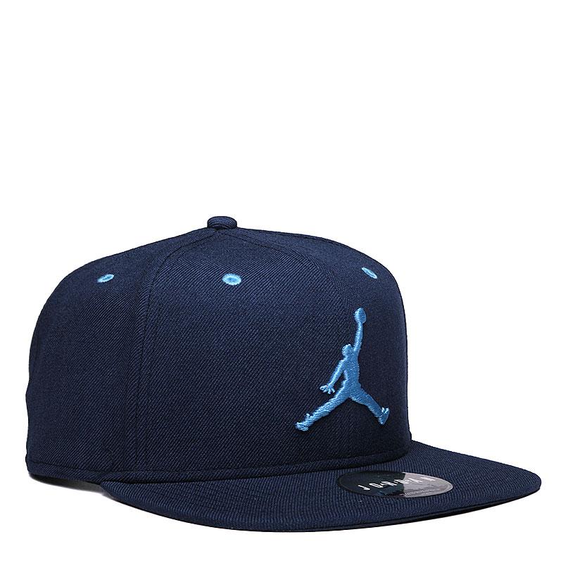 Кепка Jordan Jumpman SnapbackКепки<br>Шерсть, полиэстер, хлопок<br><br>Цвет: Синий, голубой<br>Размеры US: OS