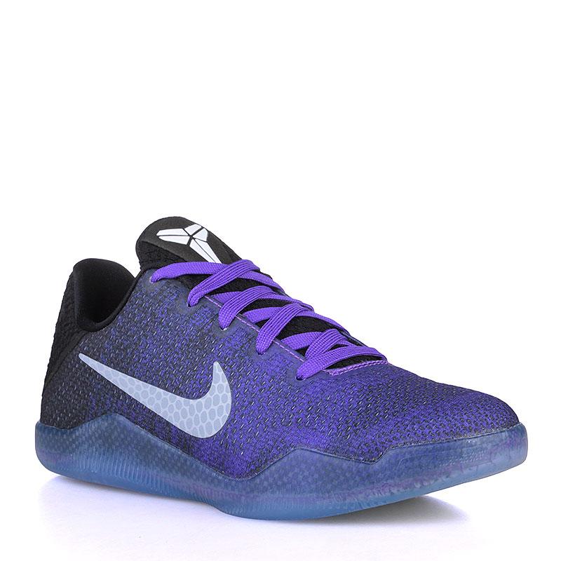 Кроссовки Nike Kobe XI GSОбувь детская<br>Текстиль, резина<br><br>Цвет: Фиолетовый, чёрный<br>Размеры US: 3.5Y<br>Пол: Детский