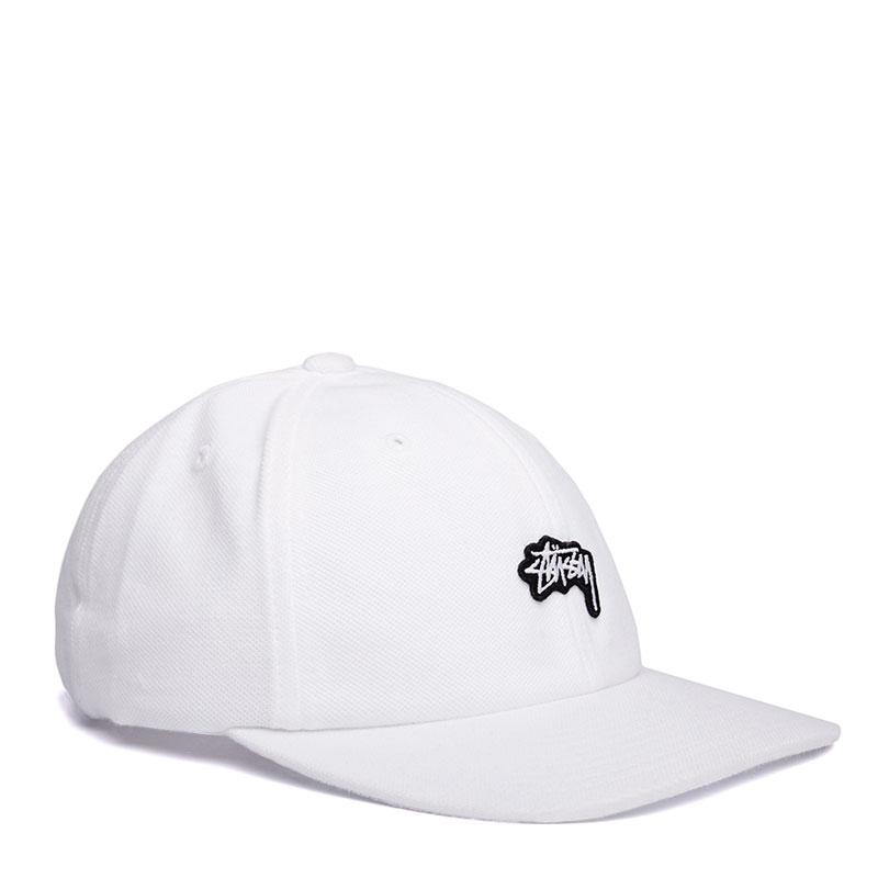 Мужская кепка Stock Pique Cap от Stussy (131534-white) купить по ... ec43c9e9966