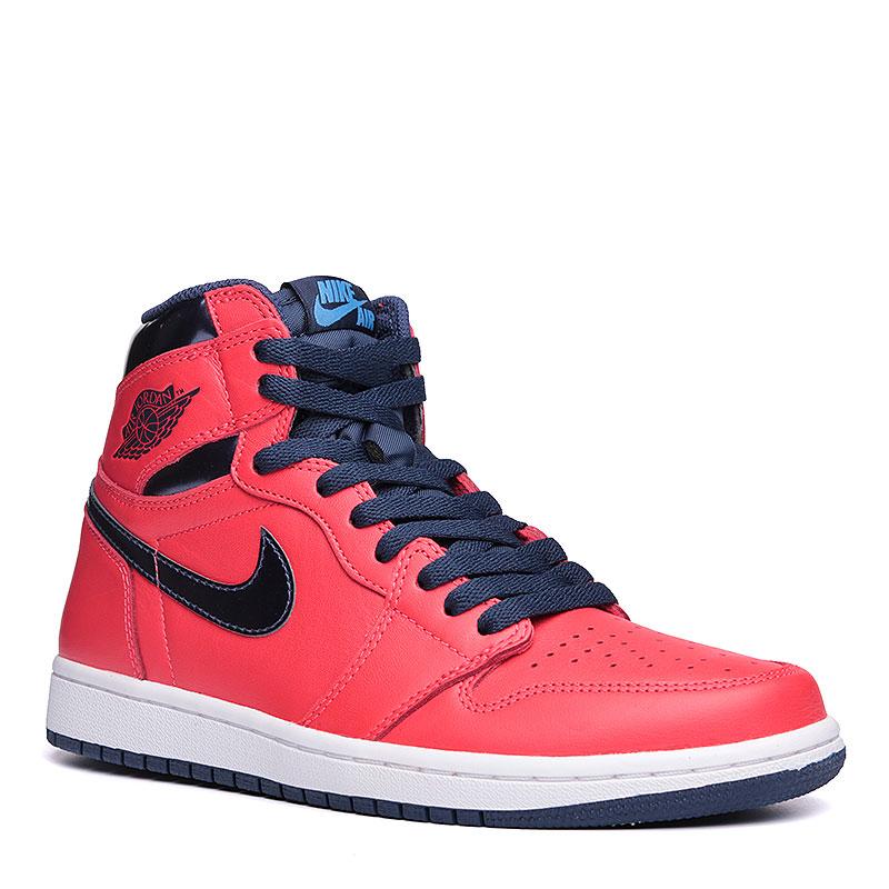 Кроссовки Air Jordan 1 Retro High OGКроссовки lifestyle<br>Кожа, текстиль, резина<br><br>Цвет: Красный, синий, белый<br>Размеры US: 7<br>Пол: Мужской