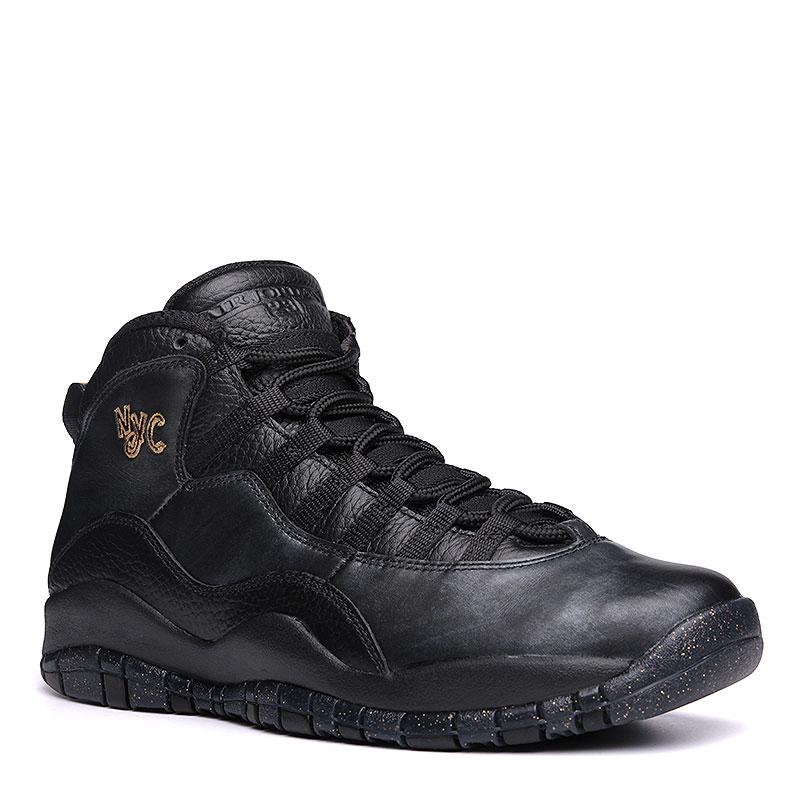 Кроссовки Air Jordan Retro XКроссовки lifestyle<br>Кожа, текстиль, резина<br><br>Цвет: Черный<br>Размеры US: 8<br>Пол: Мужской