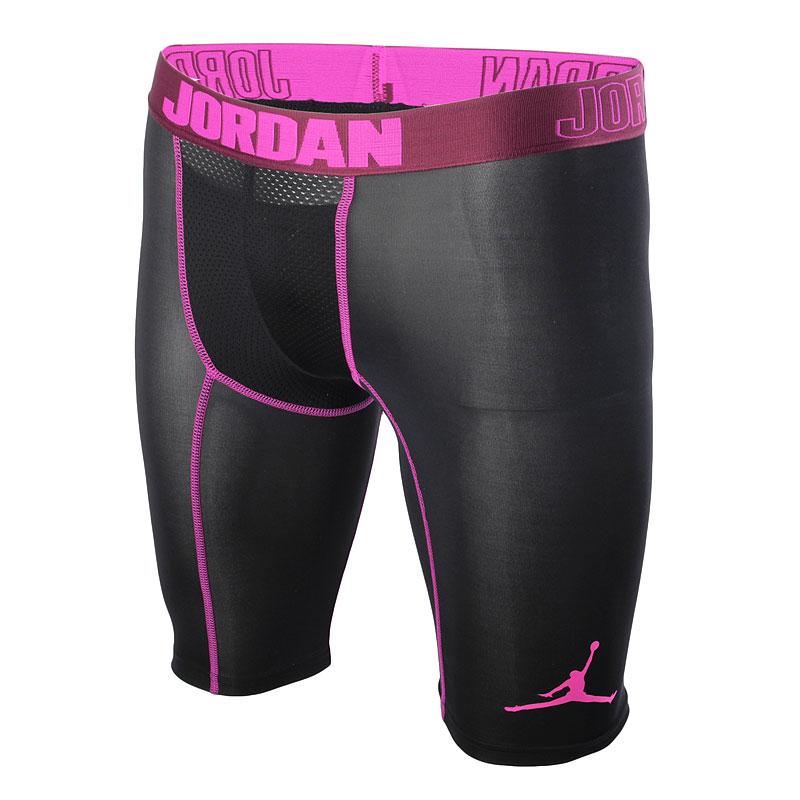 Шорты Jordan AJ All SeasonКомпрессионное белье<br>84% полиэстер, 16% эластан<br><br>Цвет: Черный,фиолетовый<br>Размеры US: XS<br>Пол: Мужской
