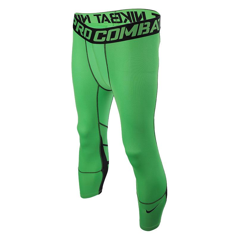мужские зеленые  шорты nike hypercool 3/4  636161-340 - цена, описание, фото 1