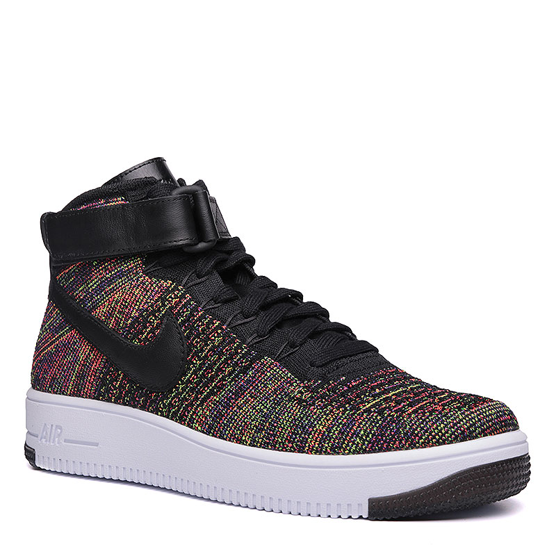 Кроссовки Nike Sportswear Air Force 1 Ultra Flyknit MidКроссовки lifestyle<br>Текстиль, резина<br><br>Цвет: Чёрный, жёлтый, красный, белый<br>Размеры US: 9<br>Пол: Мужской