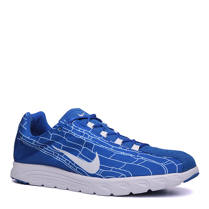 Кроссовки Nike MayflyКроссовки lifestyle<br>Текстиль,синтеткиа, резина<br><br>Цвет: Синий, белый<br>Размеры US: 8;8.5;9;9.5;10;11.5<br>Пол: Мужской
