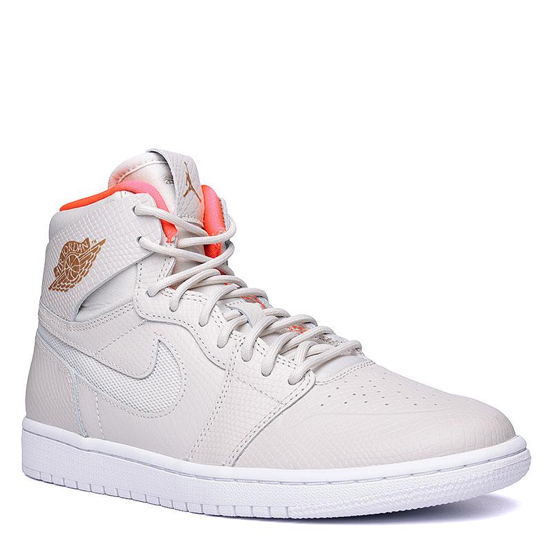 Кроссовки Air Jordan 1 Retro High NouvКроссовки lifestyle<br>Кожа, синтетическая кожа, текстиль, резина<br><br>Цвет: Кремовый, коралловый, белый<br>Размеры US: 8<br>Пол: Мужской