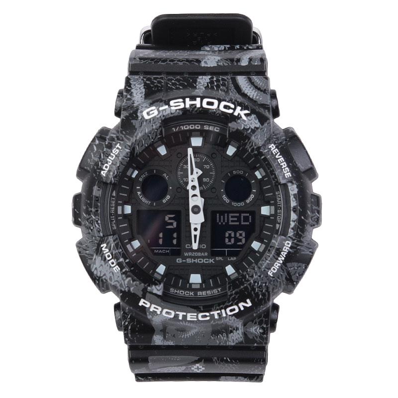 Часы Casio G-Shock GA-100MRB-1AERЧасы<br><br><br>Цвет: Черный, серый<br>Размеры : OS