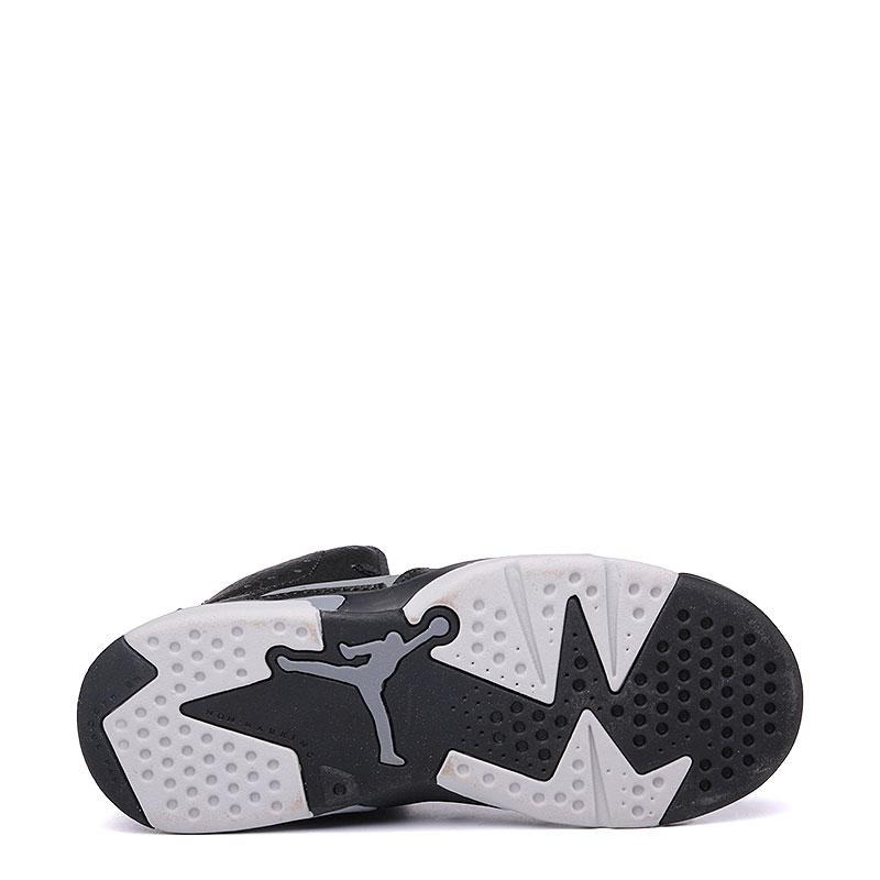 детские черные, серые  кроссовки jordan 6 retro bp 384666-010 - цена, описание, фото 4
