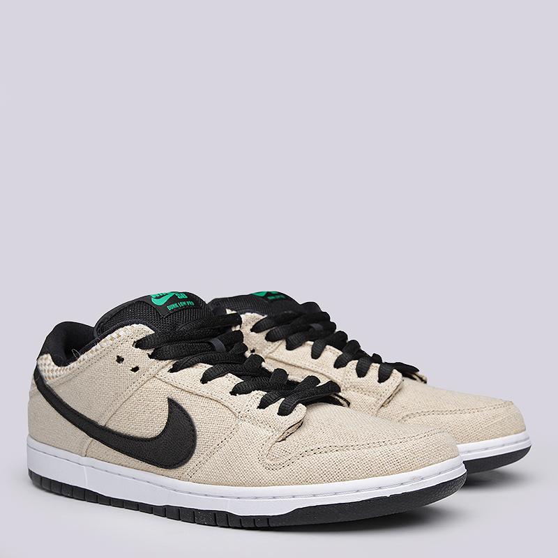 Кроссовки Nike SB Dunk Low Premium SBКроссовки lifestyle<br>Текстиль, резина<br><br>Цвет: Бежевый, белый, чёрный<br>Размеры US: 8.5;9;9.5;10;10.5;11<br>Пол: Мужской