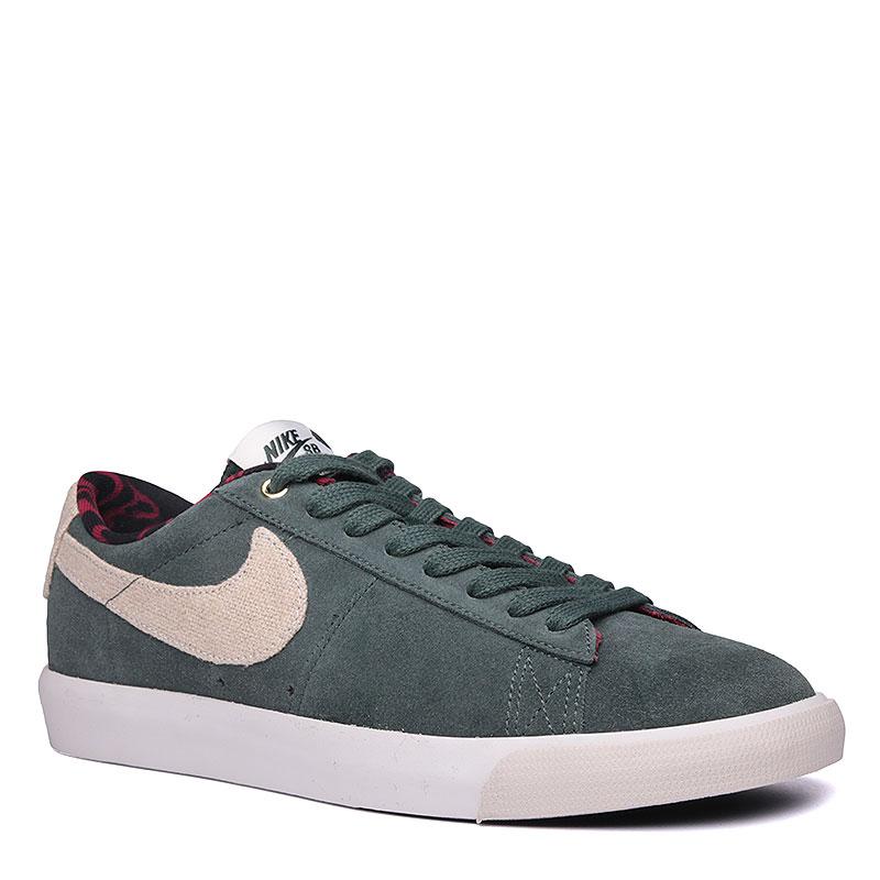 Кроссовки Nike SB Blazer Low GTКроссовки lifestyle<br><br><br>Цвет: Зелёный<br>Размеры US: 9.5<br>Пол: Мужской