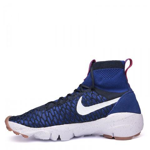 мужские синие, чёрные, белые  кроссовки  nike air footscape magista flyknit 816560-400 - цена, описание, фото 3