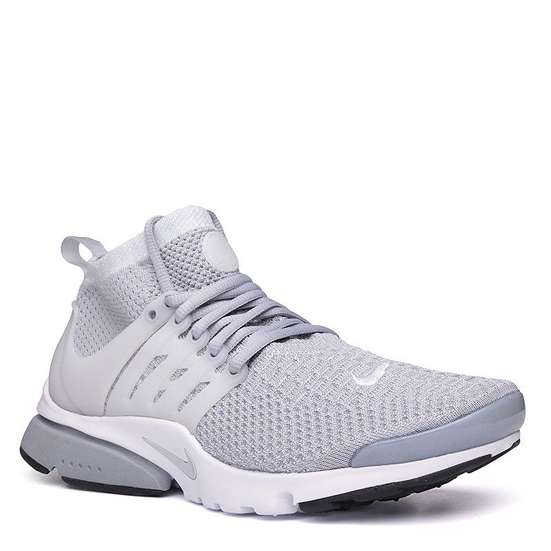 Кроссовки Nike Sportswear Air Presto Flyknit UltraКроссовки lifestyle<br>Текстиль, пластик, резина<br><br>Цвет: Серый, белый<br>Размеры US: 8;12<br>Пол: Мужской