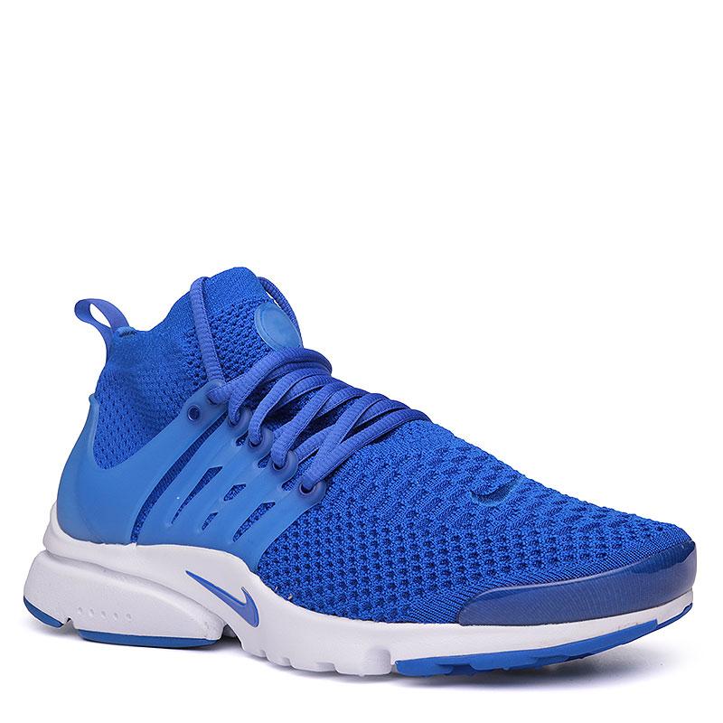 Кроссовки  Nike Air Presto Flyknit UltraКроссовки lifestyle<br>Текстиль, пластик, резина<br><br>Цвет: Синий, белый<br>Размеры US: 8;11<br>Пол: Мужской