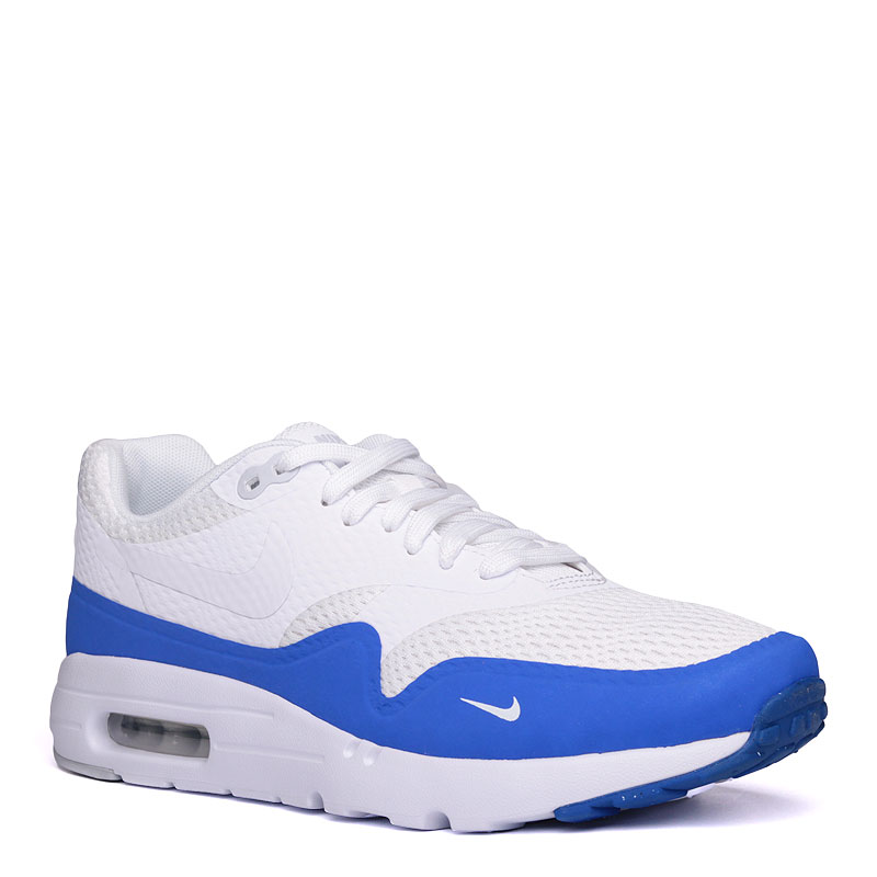 d7d066af мужские белые,синие кроссовки nike air max 1 ultra essential 819476-114 -  цена