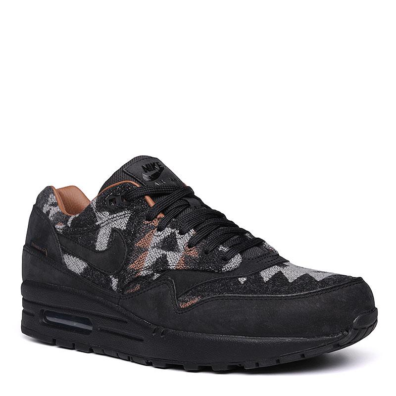 Кроссовки  Nike Sportswear Air Max 1 PND QSКроссовки lifestyle<br>Кожа, текстиль, резина<br><br>Цвет: Чёрный, коричневый, серый<br>Размеры US: 13<br>Пол: Мужской