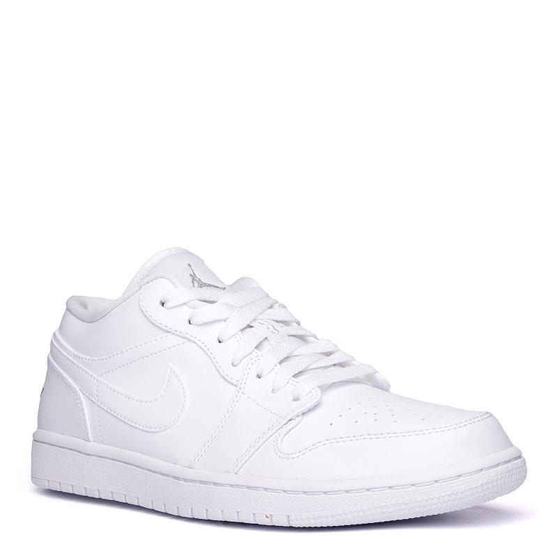 17c1fa7bea07 мужские белые кроссовки air jordan 1 low 553558-120 - цена, описание, фото