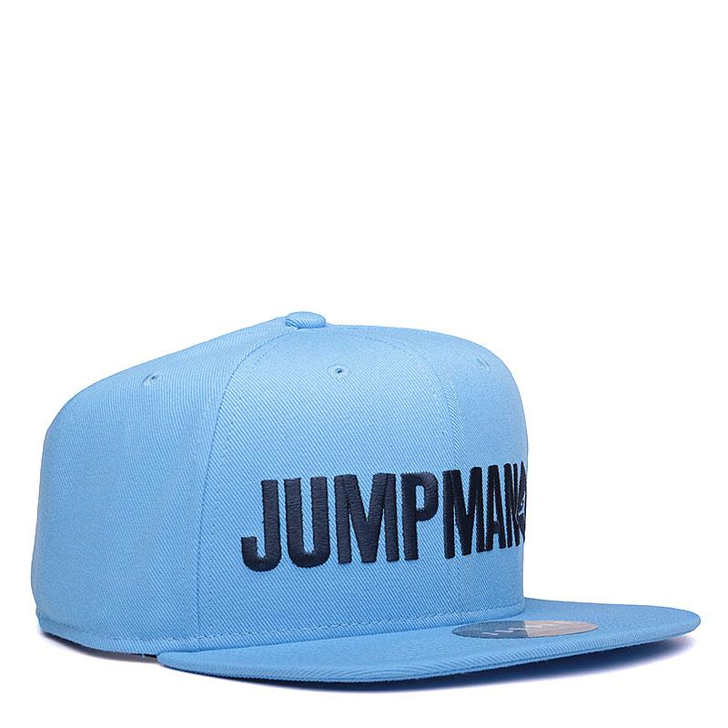 Кепка Jordan Jumpman ScriptКепки<br>Полиэстер, хлопок<br><br>Цвет: Голубой<br>Размеры US: OS<br>Пол: Мужской
