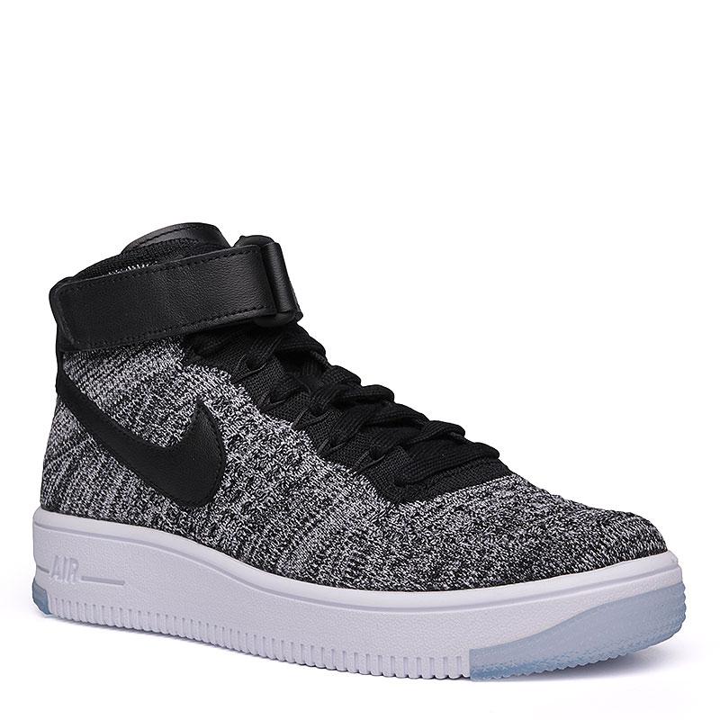 Кроссовки Nike Sportswear WMNS Air Force 1 FlyknitКроссовки lifestyle<br>Текстиль, кожа, резина<br><br>Цвет: Черный, белый<br>Размеры US: 7.5<br>Пол: Женский