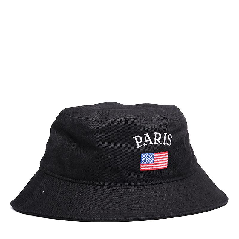 Панама Kream Paris Bucket HatКепки<br>Полиэстер<br><br>Цвет: Черный<br>Размеры : S/M