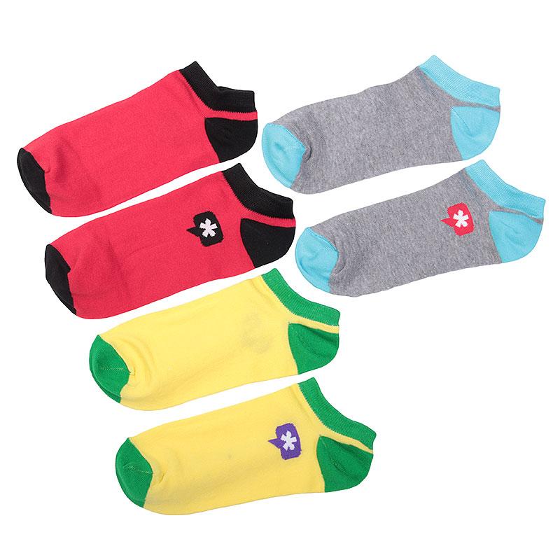 Носки True spin Астриск КороткиеНоски<br>Хлопок, эластан<br><br>Цвет: Красный, чёрный, жёлтый, зелёный, серый, голубой<br>Размеры : OS<br>Пол: Мужской