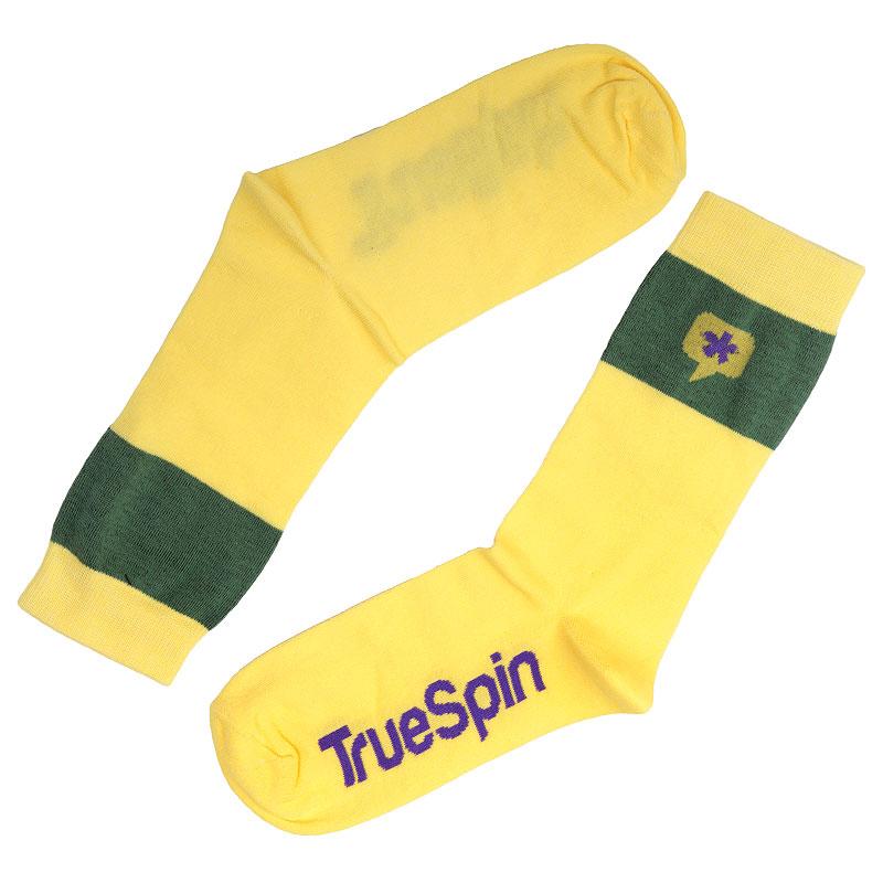Носки True spin АстрискНоски<br>Хлопок, эластан<br><br>Цвет: Жёлтый, зелёный<br>Размеры : OS<br>Пол: Мужской