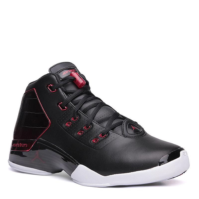 Кроссовки Air Jordan XVII + RetroКроссовки баскетбольные<br>Кожа, текстиль, резина<br><br>Цвет: Черный, красный, белый<br>Размеры US: 11.5<br>Пол: Мужской