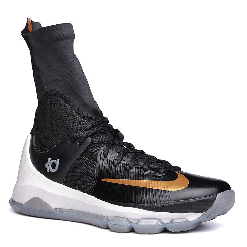 6b94f4ab мужские черные, белые, золотые кроссовки nike kd viii elite 834185-071 -  цена