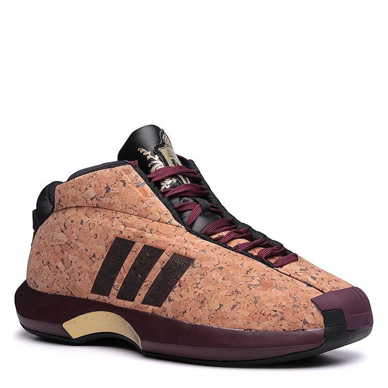 Кроссовки adidas Crazy 1Кроссовки баскетбольные<br>Кожа, текстиль, резина<br><br>Цвет: Коричневый, бордовый, чёрный, золотой<br>Размеры UK: 7;8;9.5;10<br>Пол: Мужской