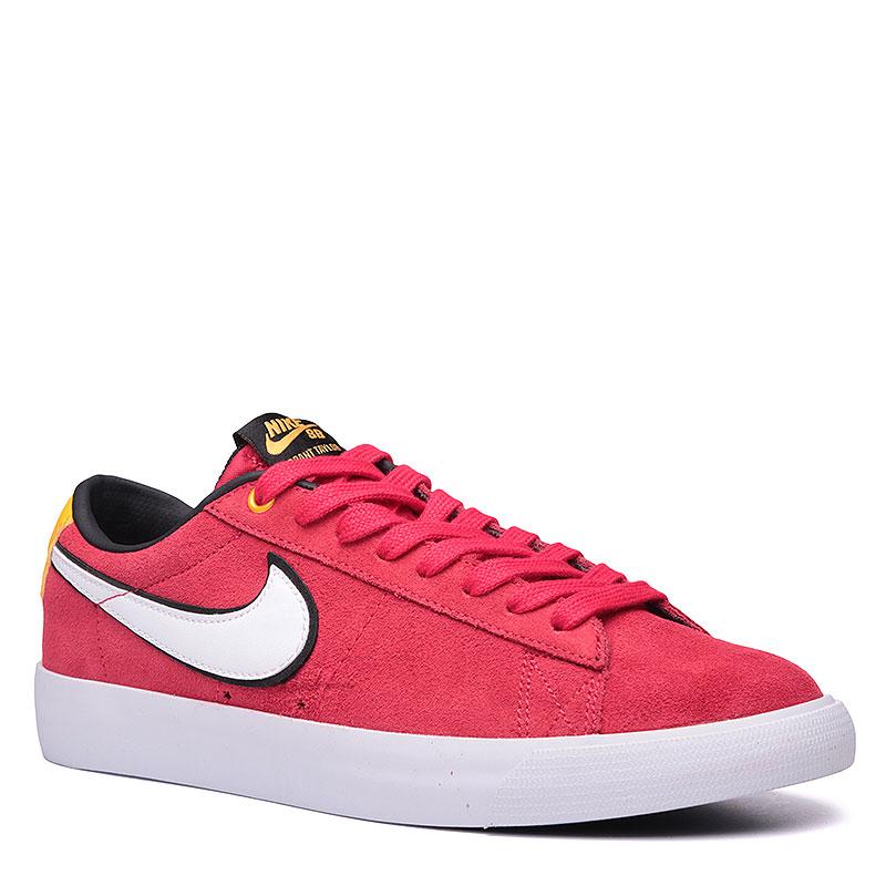 Кроссовки Nike SB Blazer Low GTКроссовки lifestyle<br>Кожа, синтетика, текстиль, резина<br><br>Цвет: Красный, белый, жёлтый, чёрный<br>Размеры US: 8;8.5;12<br>Пол: Мужской