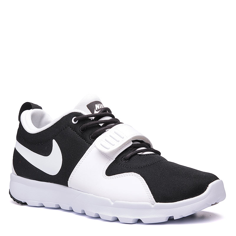 Кроссовки  Nike SB TrainerendorКроссовки lifestyle<br>Текстиль, пластик, резина<br><br>Цвет: Чёрный, белый<br>Размеры US: 9;9.5;11;11.5<br>Пол: Мужской