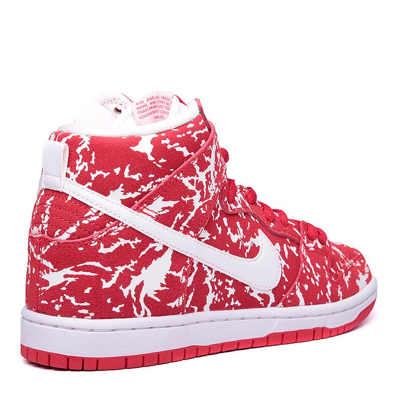 Купить мужские красные, белые  кроссовки nike sb dunk high premium sb в магазинах Streetball изображение - 2 картинки
