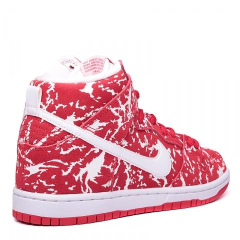 Купить мужские красные, белые  кроссовки nike sb dunk high premium sb в магазинах Streetball - изображение 2 картинки