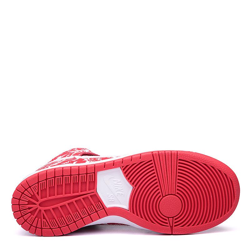 Купить мужские красные, белые  кроссовки nike sb dunk high premium sb в магазинах Streetball изображение - 4 картинки