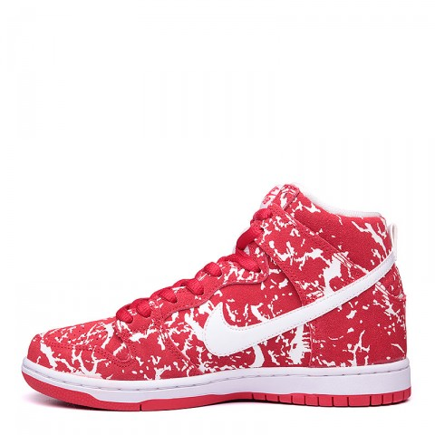 Купить мужские красные, белые  кроссовки nike sb dunk high premium sb в магазинах Streetball - изображение 3 картинки
